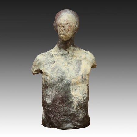 -SOLD- Stephen De Staebler, Man with Mummified Face, 1981